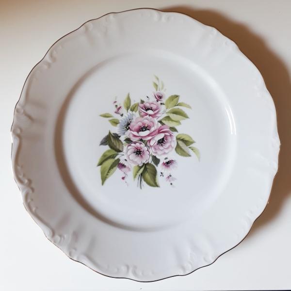 Assiette Vintage Motif Floral