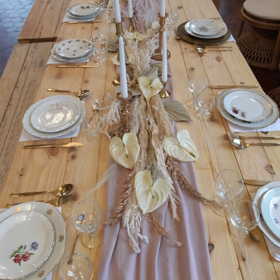 Table Bohême rose