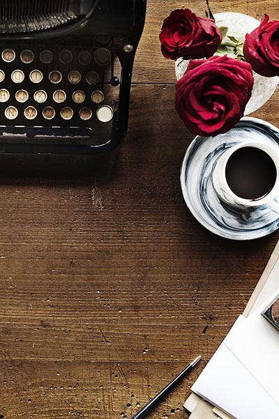 Machine à écrire rétro vintage