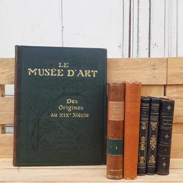 Lot De Livres Anciens En Cuir