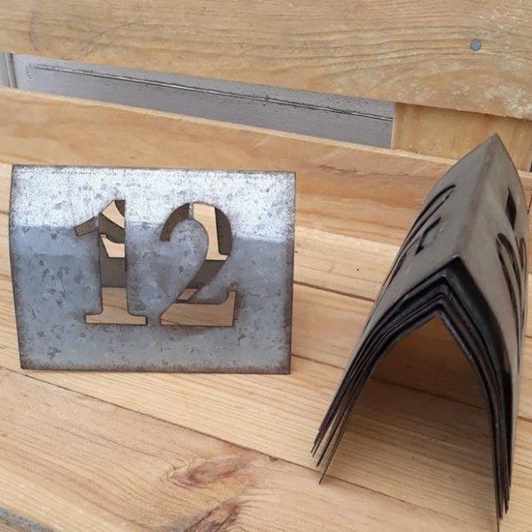 Numéro De Table En Zinc