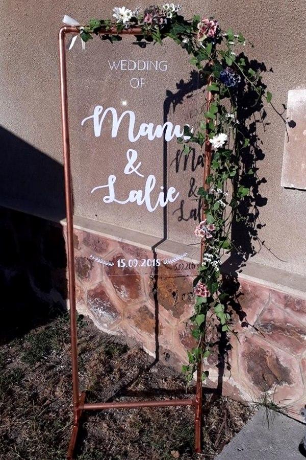 Panneau d'entrée cuivre et plexi