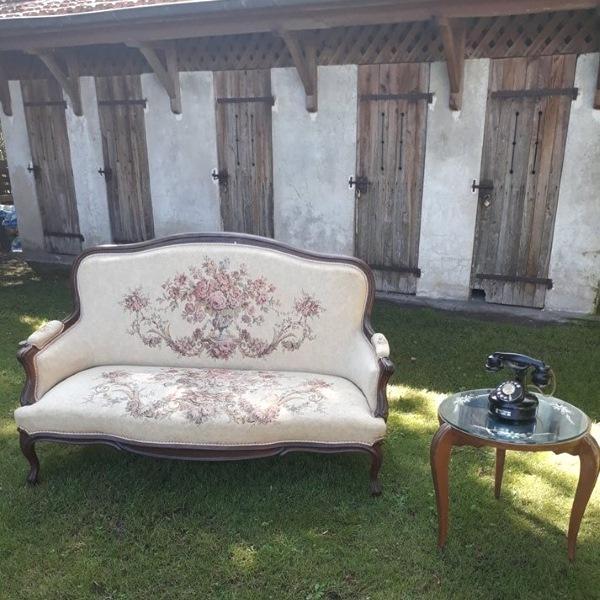 Banquette Tapissée Style Louis XVI