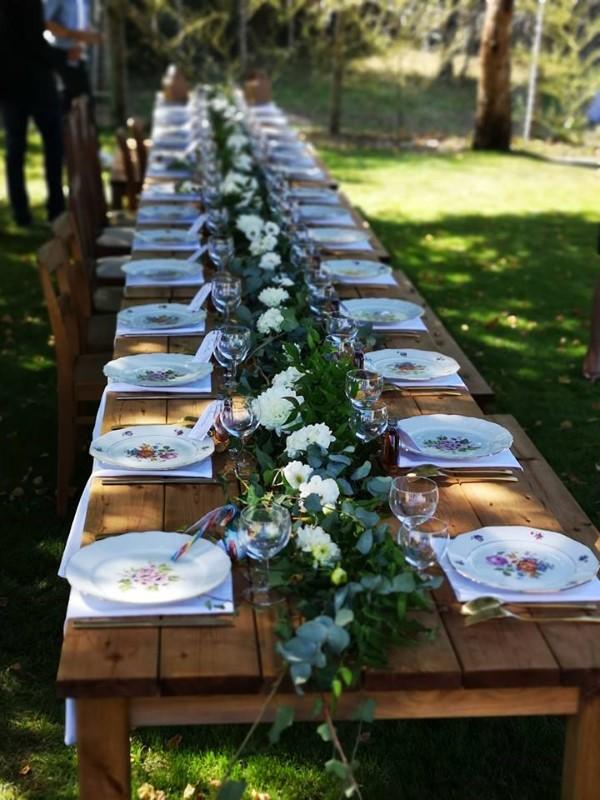 Longue table champêtre