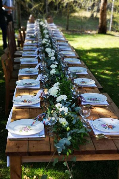 Table rétro champêtre