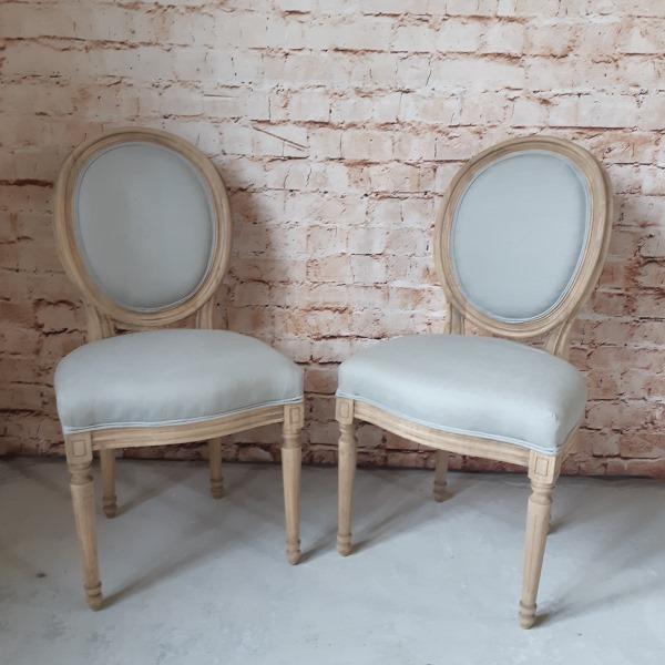 Duo De Chaises Médaillon Gris Clair