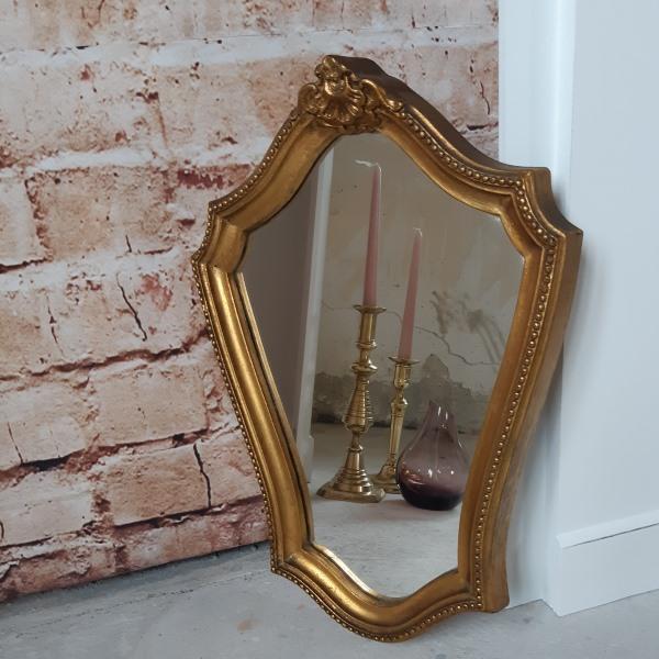 Petit Miroir Arrondi Doré
