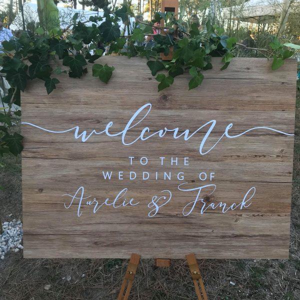Texte du panneau de Bienvenue