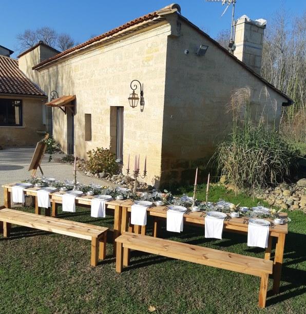 Table de banquet au Domaine de Conseillant