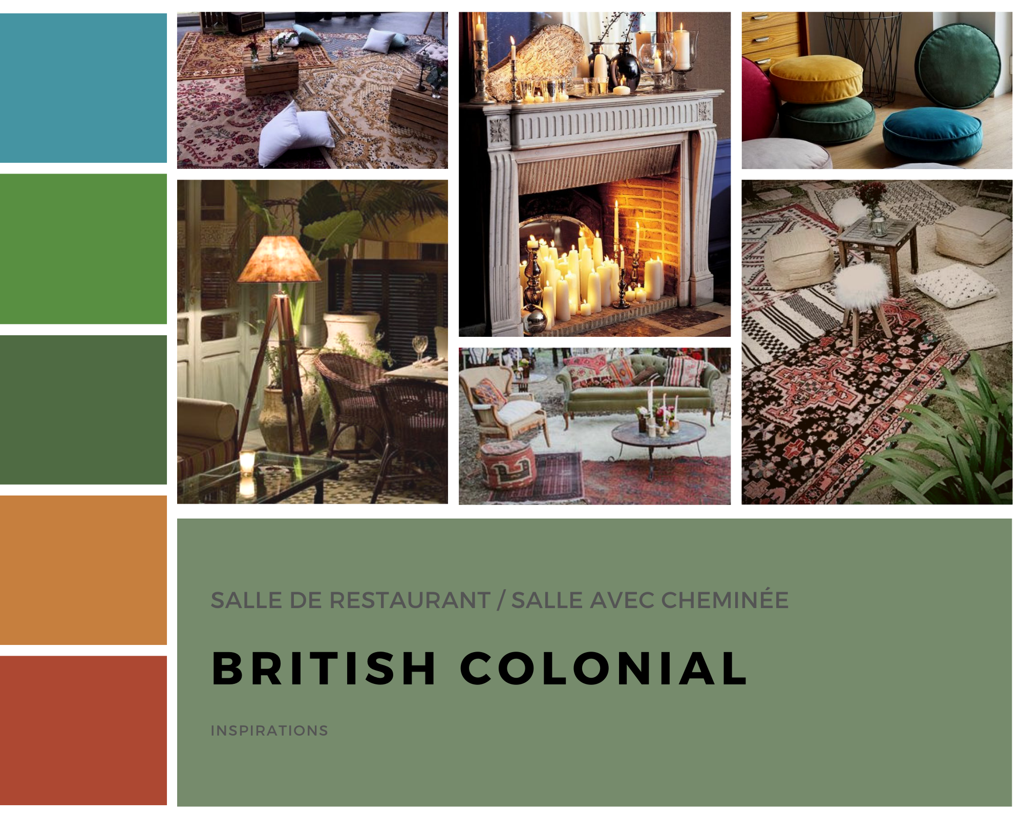 Planche d'inspiration British colonial