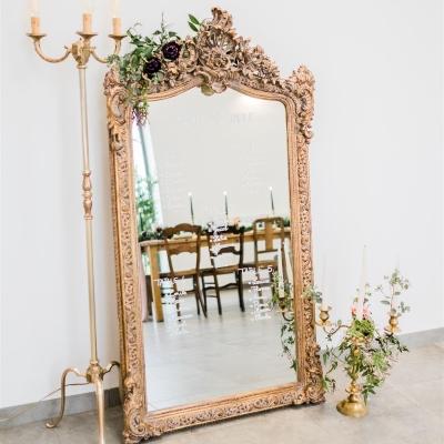 miroir baroque en plan de table
