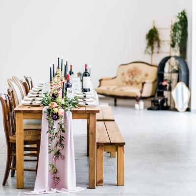 table banquet au château de l'Hospital