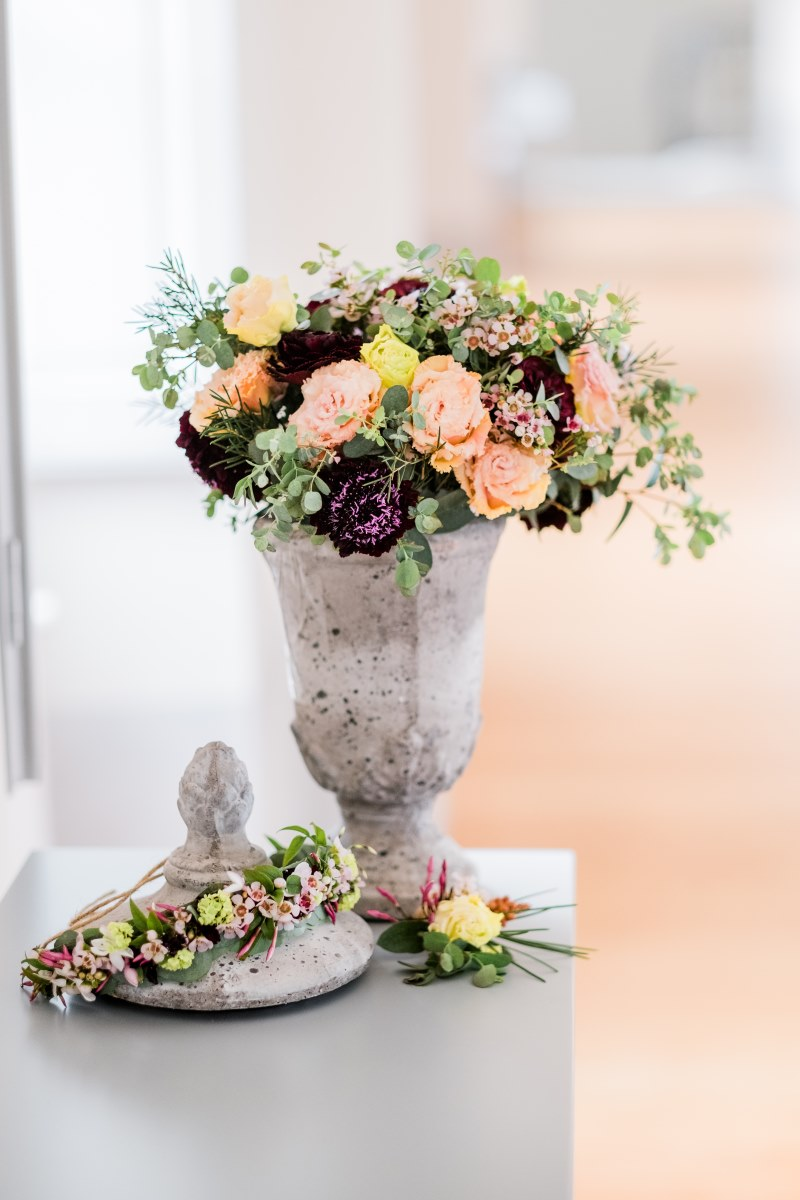 Bouquet et couronne de fleur