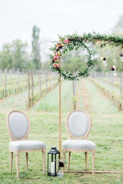 chaises médaillons pour mariés