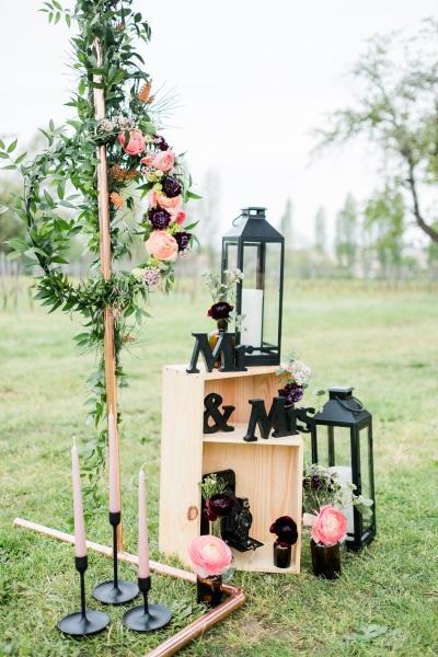 décoration de mariage vignoble