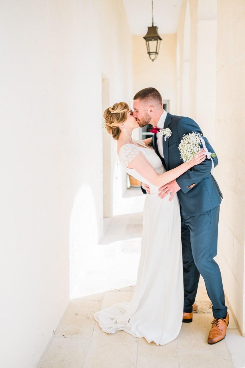 les mariés au château de l'Hospital