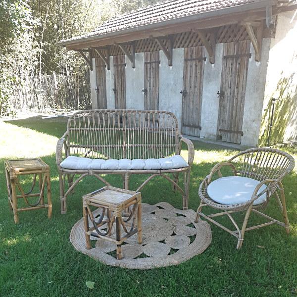 Salon Lounge En Rotin