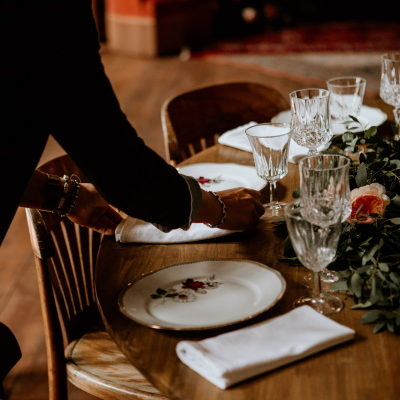 assiette vintage champêtre