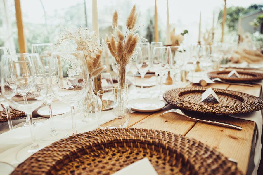 Table de mariage nature