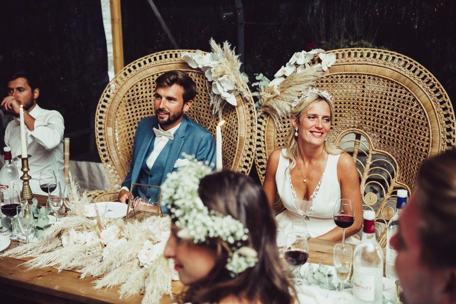 Fauteuils Emmanuelle pour les mariés