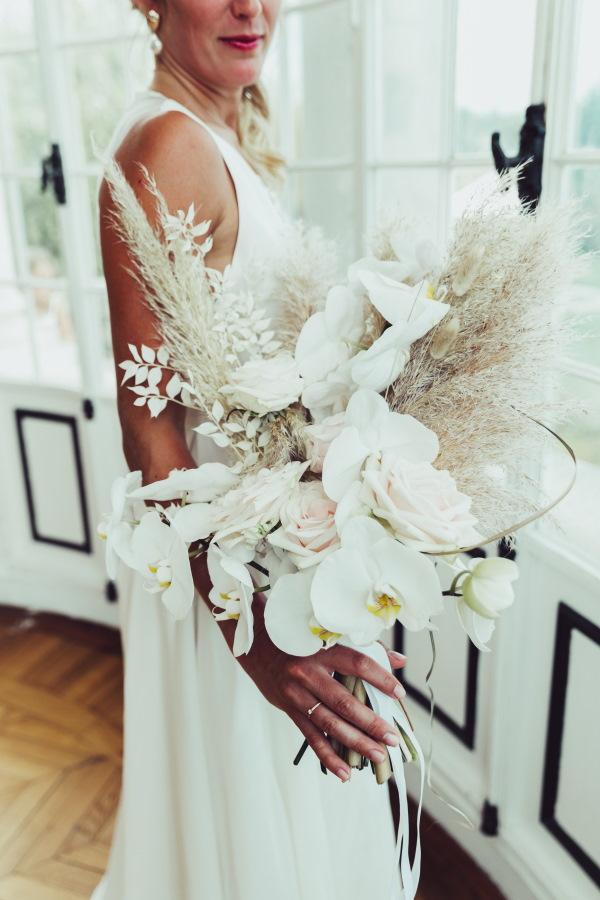 Bouquet pampa et orchidée