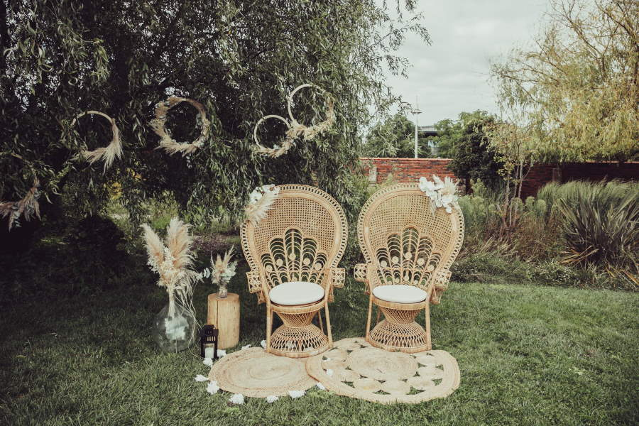 Fauteuils Emmanuelle de mariage en Gironde