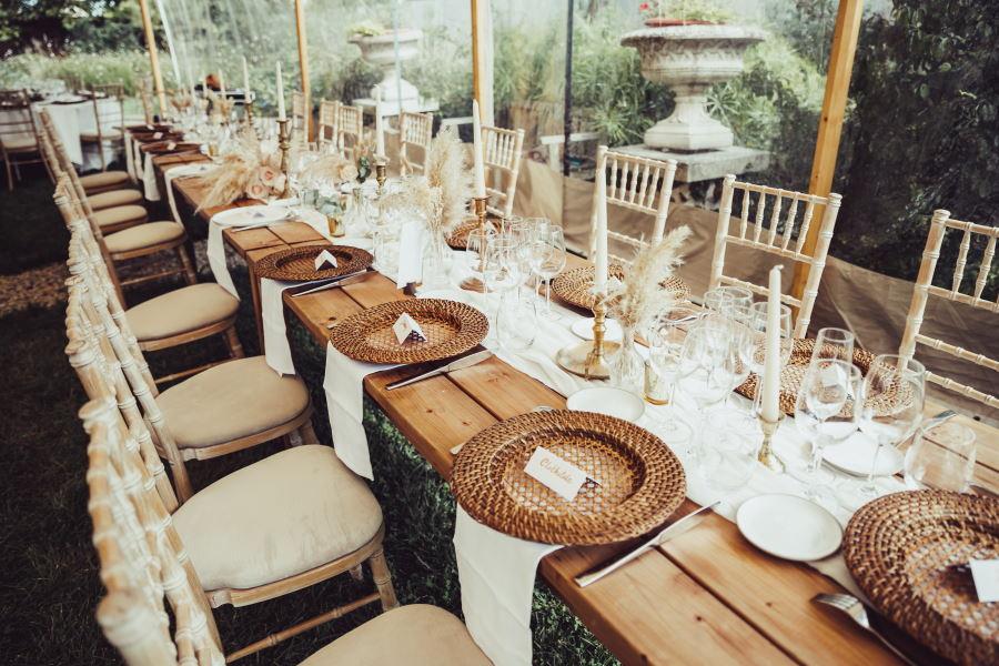 Grande table bohême de mariage