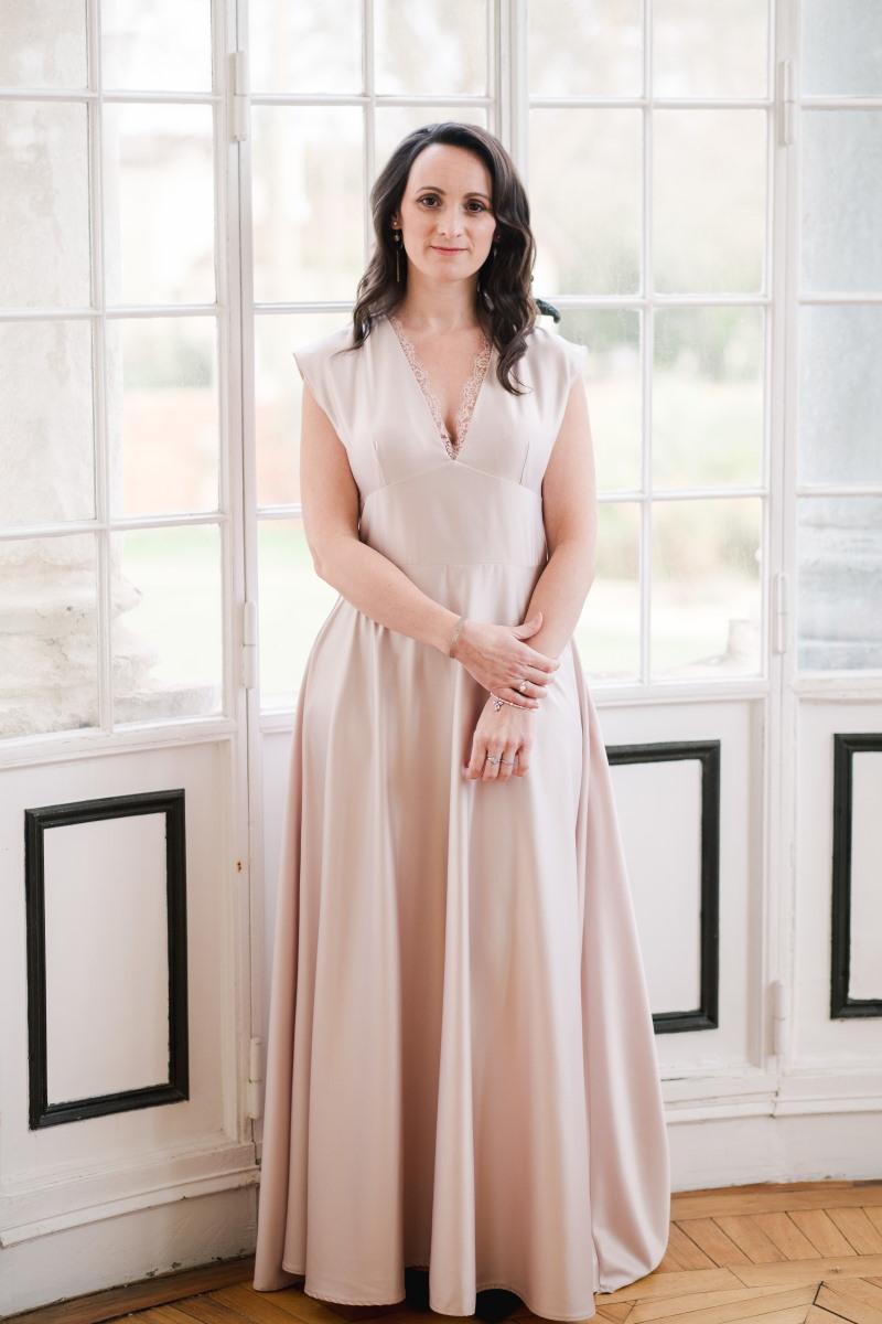 Robe de demoiselle d'honneur vieux rose