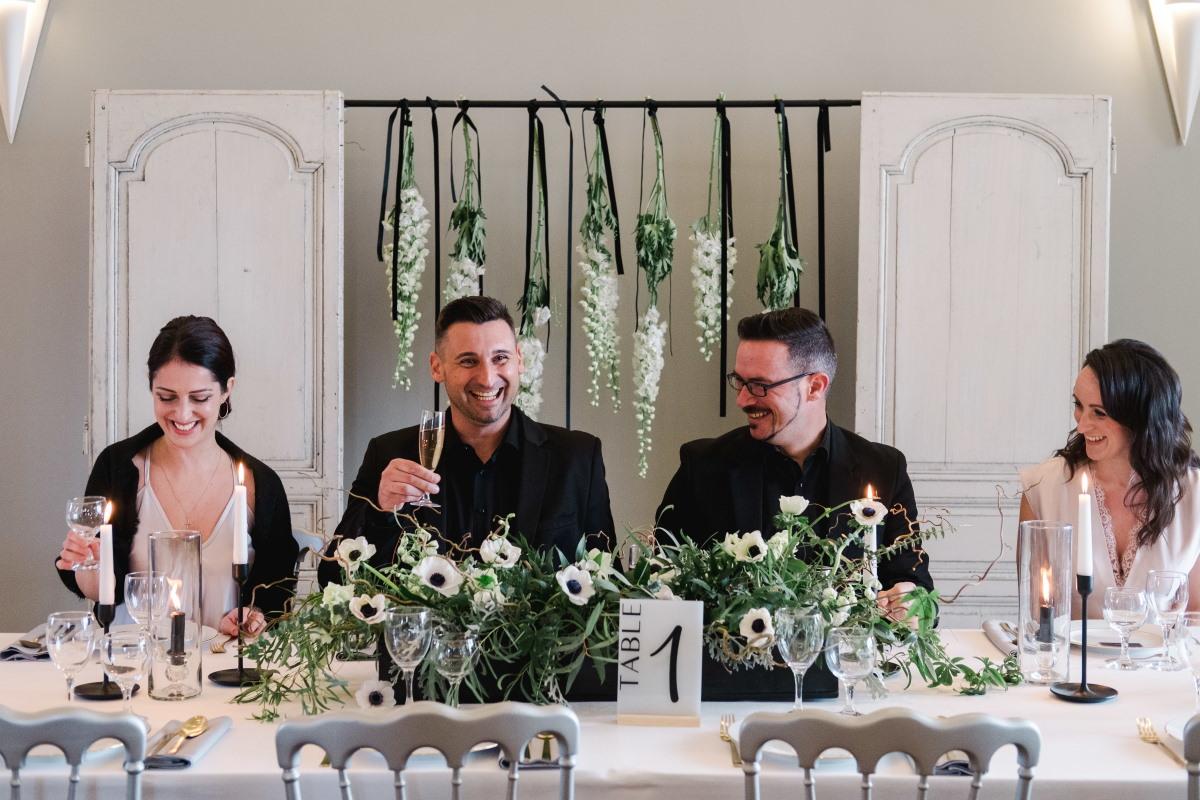Table des mariés minimaliste haut-de-gamme Arcachon